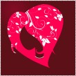 Female head to the heart — Vector de stock