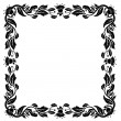 Vintage frame with foliage — Stock Vector