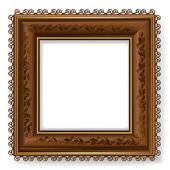 Retro vintage wooden frame — Stock Vector