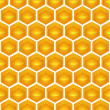 Honeycomb Illustration contains a transparency blends/gradients. - Stock Vector