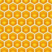 Honeycomb Illustration contains a transparency blends/gradients. — Stock Vector