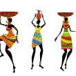 Africwomen in traditional dress — Vector de stock #9159803