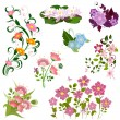Set of flowers — Stock Vector #9159840
