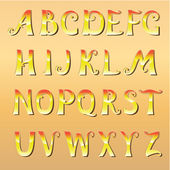 Font cheerful sunny — Stock Vector