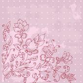 Abstract floral grunge, desenho à mão — Vetor de Stock