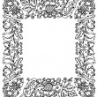 Vintage frame with floral ornament — Vettoriali Stock