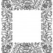 Vintage frame with floral ornament — Stock Vector