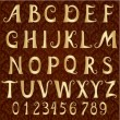 Gold font on a vintage background — Imagen vectorial