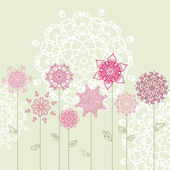 Floral design with arabesques — ストックベクタ