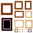 Collection of vintage wooden frame — Stock Vector #9884383