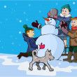 Постер, плакат: Winter entertainments of children
