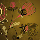 цветочный фон — Cтоковый вектор