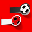 Sticker with a picture of a soccer ball - Imagens vectoriais em stock