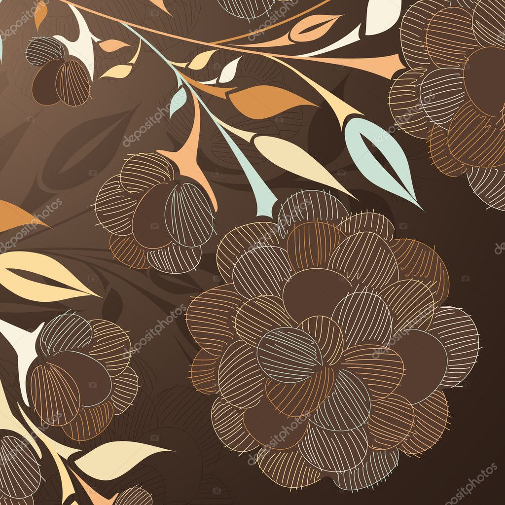 Floral background  Stock Vector #8340074