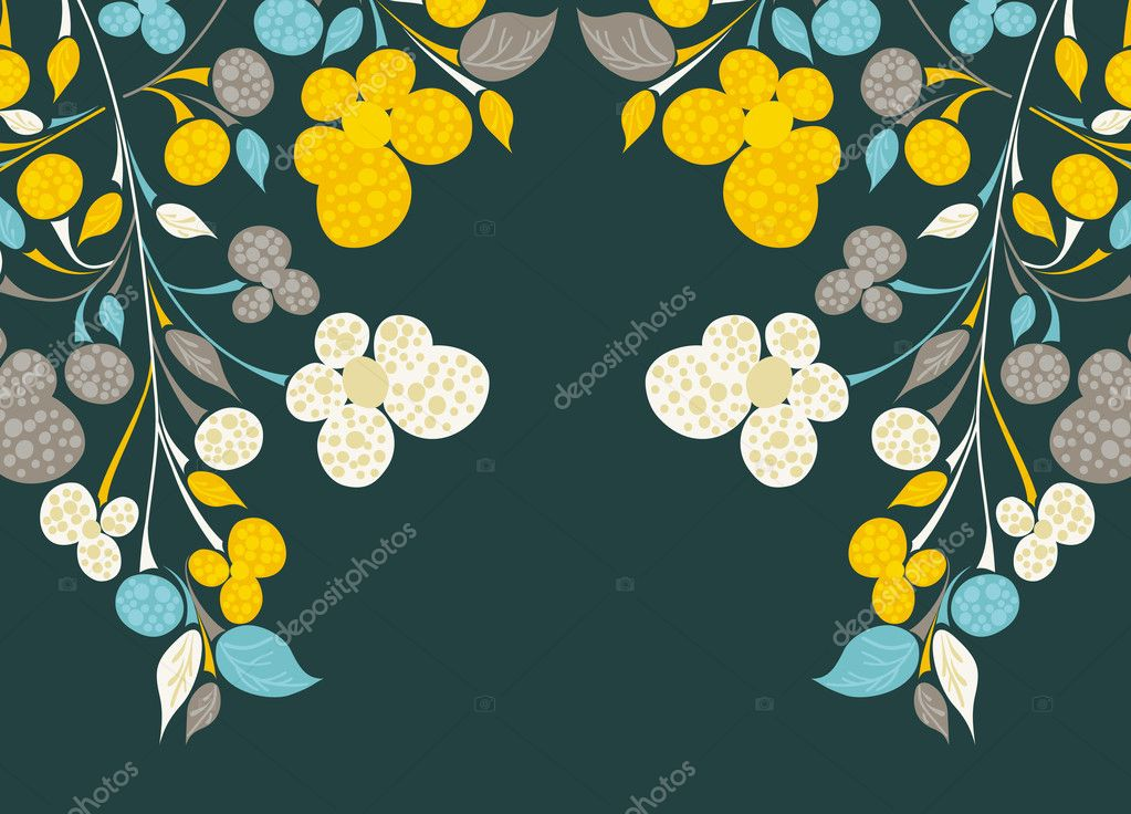 Floral background — Stock Vector #8340077