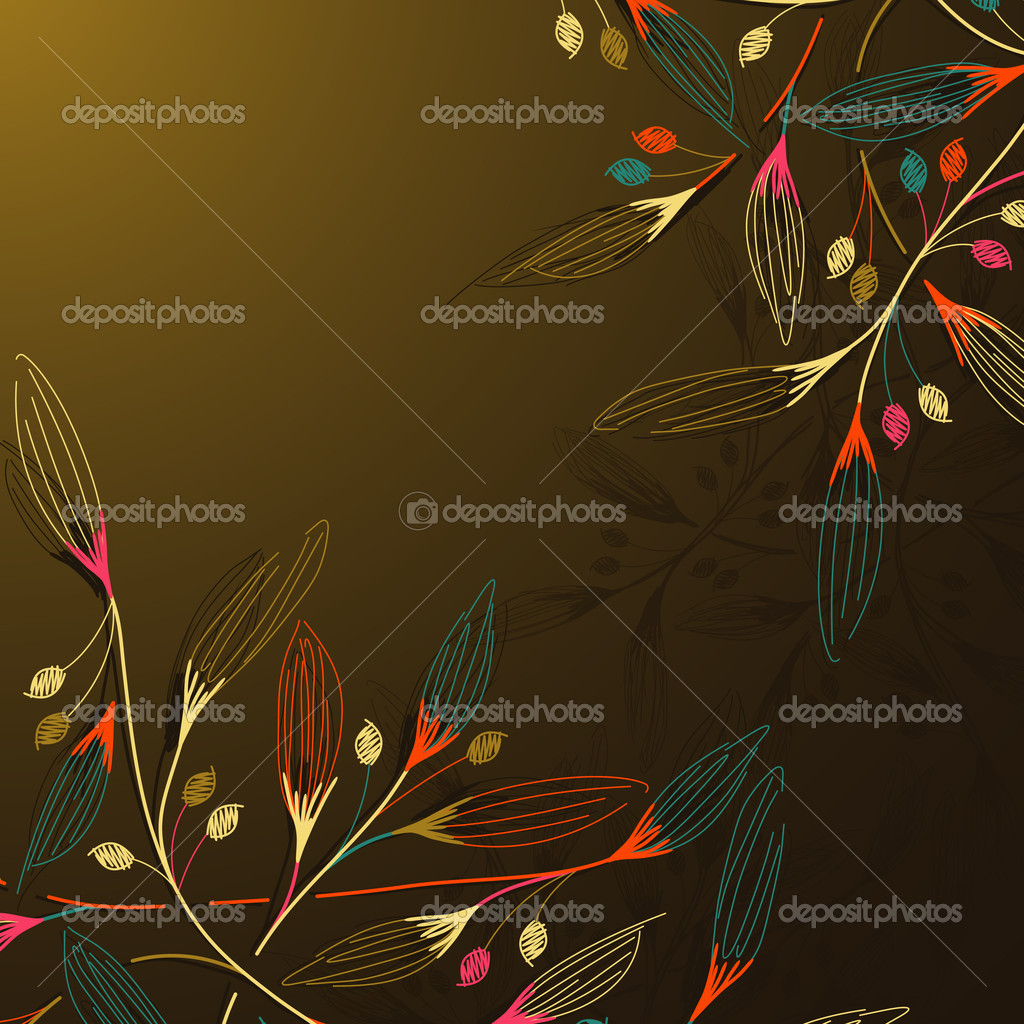 Floral background — Stock Vector #8340084
