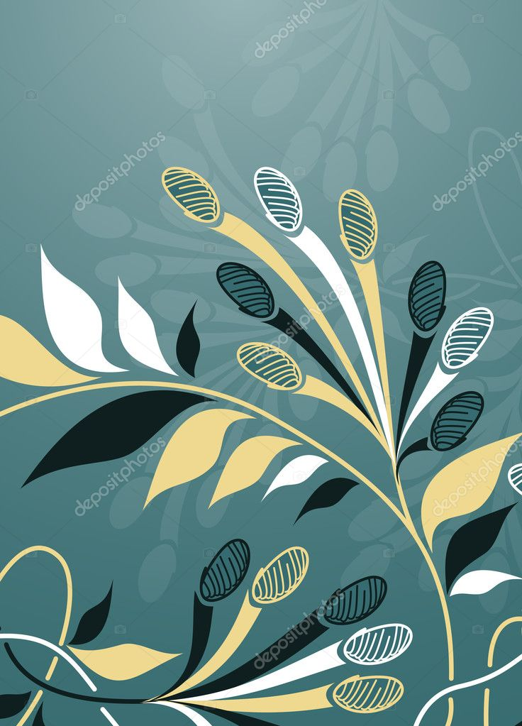 Floral background  Image vectorielle #8340099