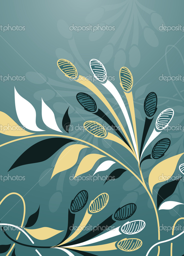 Floral background  Imagen vectorial #8340099
