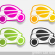 Eco car, realistic design elements — Image vectorielle