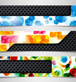 Banner hybrid combination abstract metal iron background — Stock Vector