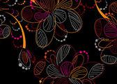 Floral fond — Vecteur