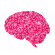 Human brain, pink dream, vector abstract background — Stock Vector #8864077