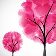 Valentine tree, abstract background - Stock Vector