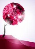 валентина дерево, абстрактный фон — Cтоковый вектор