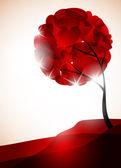αγίου βαλεντίνου δέντρο, αφηρημένα φόντο — Διανυσματικό Αρχείο