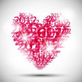 Καρδιά, φόντο ημέρα του Αγίου Βαλεντίνου — Διανυσματικό Αρχείο