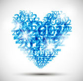 Heart, valentine background — Stock Vector