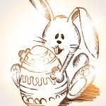Easter rabbit — Stock Vector #9532080