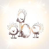 Easter chicks — Cтоковый вектор