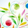 Cтоковый вектор: Floral background, vector abstract background