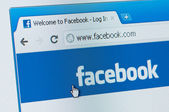Facebook start page. — Stock Photo