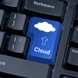 Royalty-Free Stock Photo: Computer keyboard key with the cloud.