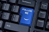 Follow me button keypad. — Stock Photo