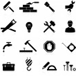 Icons construction and repair — Stockvectorbeeld
