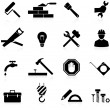 Icons construction and repair - Stock Vector