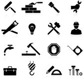 Icons construction and repair — 图库矢量图片