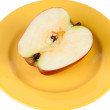 Half apple on plate. — Stock Photo #9448902