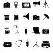 Photo collection of icons. — Stock Vector