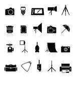 Fotosamling av ikoner. — Stockvektor