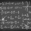 Equations on blackboard. — Stock Photo