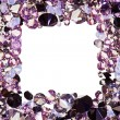 Square frame made from many small purple diamonds, with copyspac — Stock Photo #7979229