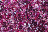 Many small ruby diamond stones, luxury background — Stock Photo