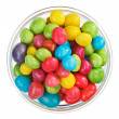 Multicolor bonbon sweets (ball candies) in glass bowl, isolated - Lizenzfreies Foto