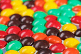 Multicolor bonbon sweets (ball candies) food background, closeup — Stock Photo
