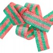 Royalty-Free Stock Photo: Red and green gummy candy (licorice) band, isolated on white clo