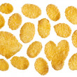 Corn flakes food ingredient background — Stock Photo #9336101